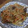 幸運な病のレシピ( 1028 )昼:豚肩ロース炒(もやし、玉ねぎ)、牛丼(当然ご飯なし頭のみ)