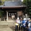 佐馬神社境内でのグランドゴルフ