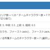 LiveJackの獲得イベントポイント