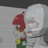 作業進捗①:キャラクターモデリング・素体作り