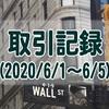 【取引記録】2020/6/1週の取引(利益$805、含み損$-2,786)