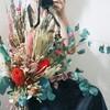 王道のかわいい花束をドライフラワーとワイルドフラワーで!プレゼントにもおすすめ