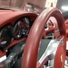 自動車内装修理#312 ポルシェ/981ボクスターS レザー革ハンドル/ステアリング 劣化・擦れ・ひっかき傷補修