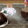 指宿温泉で砂風呂体験
