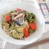 夏野菜と鯖缶のさっぱり焼き浸しそうめん #簡単レシピ #夏に食べたい