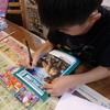 今日は九龍が夏休みの課題や勉強をするのに付き合っていました。