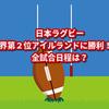 日本ラグビーアイルランドに奇跡の勝利!全試合日程は?ラグビーの歴史も探ってみよう!