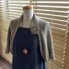 まっすぐ編んでとじはぎするボレロ、編みました。簡単だけど、結構使える。梅雨寒、エアコン対策にピッタリです!