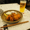 広島宮島、お洒落ダイニングの牡蠣と鹿。