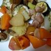 ヘルシオでごろごろ野菜焼きを作ってみました♪