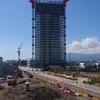 2019-03-13 海老名駅間とロマンスカーミュージアム建設現場の奥にある建物の取り壊し