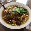 中区若葉町の「一碗雲呑」で牛肉刀削麺