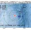 2017年08月14日 13時17分 八丈島東方沖でM3.3の地震