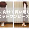 【コーデ】ブラウス袖のニットワンピース