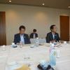 21日、福島市長と市内選出県議との懇談会。市長からは中核都市移行に協力依頼。耐震不測の公会堂は今年度で閉鎖の方針。