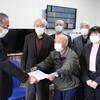 梁川町塩野川の復旧計画について県と懇談