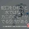 350食目「蛇口をひねると水ではなく、カニのだし汁がでる空港がある」カニ水揚げ量日本一の県にある空港での本当の話