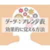 ダーツ「アレンジ」を効果な覚え方は?【無料DL】自作アレンジ表テンプレート