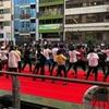 道頓堀リバーフェスティバルで Sing&Dance