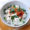 今日ものっけごはんー豆腐とキムチ