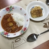 ハヤシライスと豆腐卵焼き