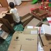 【1歳3歳育児】ダンボールの家で思いきり絵の具遊び【家庭学習】