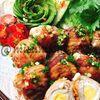 豚バラとうずら卵でコロコロ【肉巻きチーズ卵】