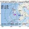 2017年09月07日 23時19分 北海道南西沖でM3.0の地震