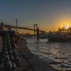 α7RⅢとタムロン28-75 f2.8で北九州市の若戸大橋で朝日を撮影してきた