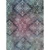 着物生地(369)抽象華紋更紗模様着物生地