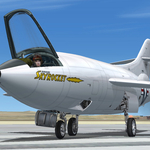 """FSX Douglas D-558-2 Skyrocket_Early model_v1""has been released!"