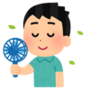 アトピー特有の熱を持った肌対策に携帯扇風機が便利です