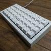 方眼工作紙とエアコンパテを使って作られた自由な自作キーボード