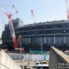 工事中の新国立競技場記録