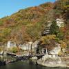 塔のへつりで紅葉を ‐野岩鉄道・会津鉄道の秋旅(4)