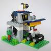 レゴ:警察署とパトカーセットの作り方 LEGOクラシック10696だけで作ったよ(ポリスステーション)