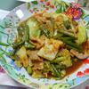 今日の晩飯 回鍋肉と中華風コーンスープを作ってみた
