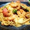 海老と帆立のトマトクリームパスタのレシピ