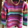 セーターを編み終わりました