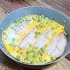 『アジとグリンピースのピカタ風卵焼き』レシピ【フライパン1つでお手軽ごはん③】