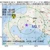 2017年09月22日 21時46分 胆振地方中東部でM3.1の地震