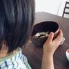 1歳娘の食の変化に困ってます🍴朝食はごはんに変更🍚時短お味噌汁を添えて💛