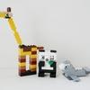 レゴ:キリン、パンダ、アシカセットの作り方 LEGOクラシック10698だけで作ったよ (オリジナル説明書)