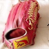 イメチェン!ピンクの久保田スラッガーオーダーグローブ!ウェブ色合わせを添えて。