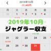 2019年10月ジャグラー収支~今シーズン初のマイナス収支~