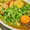 荻窪の「吉田カレー」でMIX、キーマダブル、ポテトサラダ、鶏油アチャール、パクチー。