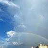 夕立後の虹のお話。