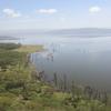 ケニア ナクル湖国立公園の風景を眺める (Lake Nakuru, Kenya)