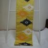 【名古屋帯】抽象的な菊模様の黄色の京袋帯