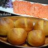 減塩ミルクバターパンとサーモンの刺身☆